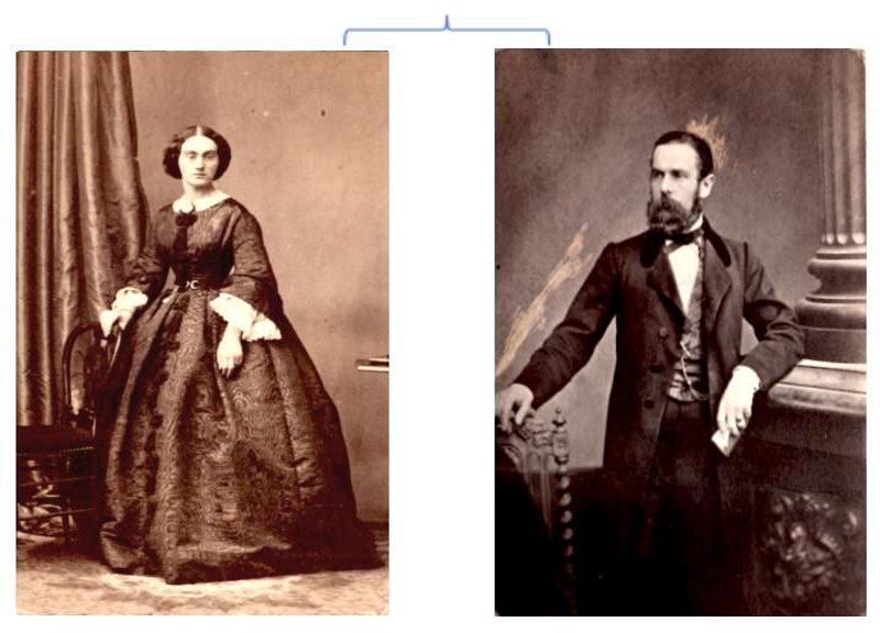 Leonnie de Riviere (baronne Dujon) et Baron Henri Dujon