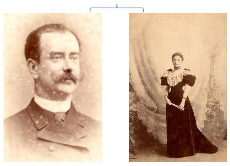Marie Therese Dujon comtesse de Monteynard et Comte Eynard de Monteynard